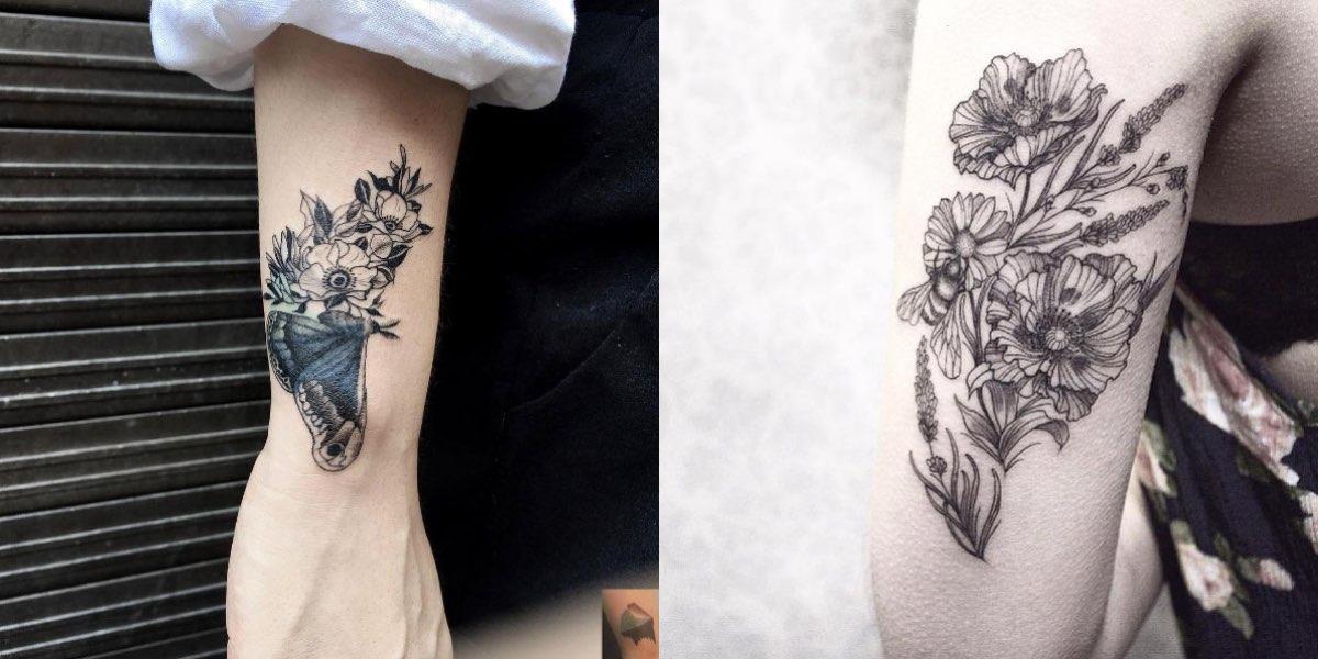 50 tatuaggi femminili con i fiori da sfoggiare in autunno.
