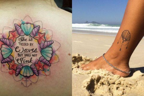 tatuaggi con le conchiglie