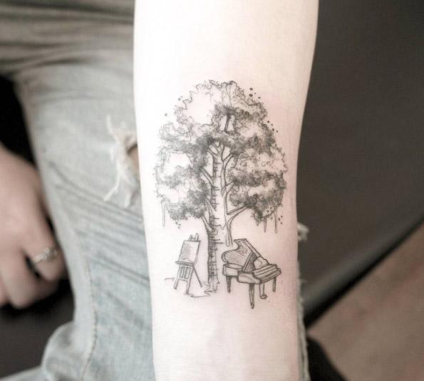 50 tatuaggi con gli alberi tante nuove foto con i loro significati. Black Bedroom Furniture Sets. Home Design Ideas