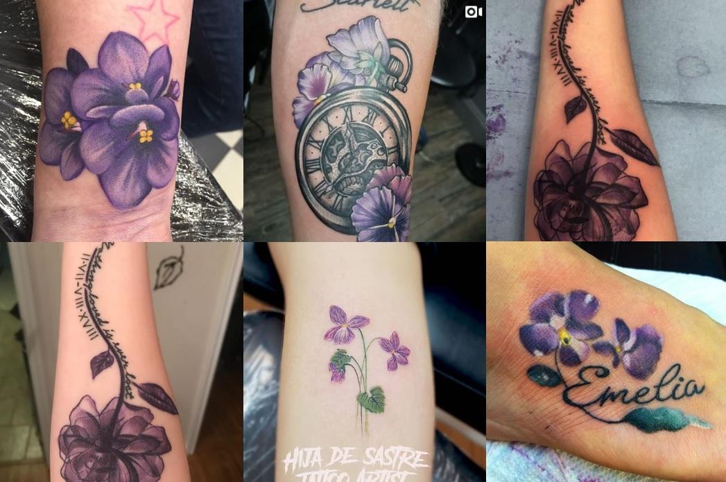 Fiori Tatuati.Tatuaggio Viola I Significati Di Questo Bel Fiore Tatuaggistyle It